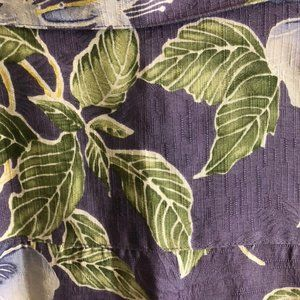 Tommy Bahama Tops - 100% silk Hawaii  purple with blue flowers size L